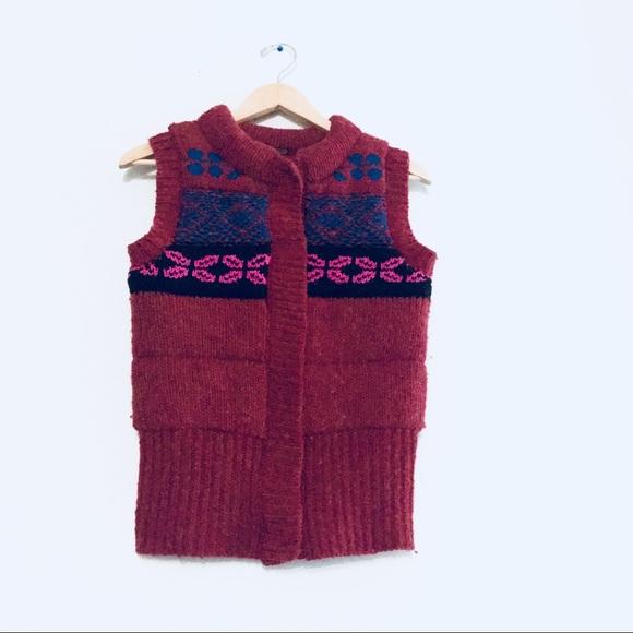 FINAL SALE Free People Fair Isle Nordic Wool Vest